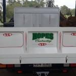 Hope Contractors truck scrolls  2015 2