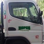 Hope Contractors truck scrolls  2015 3